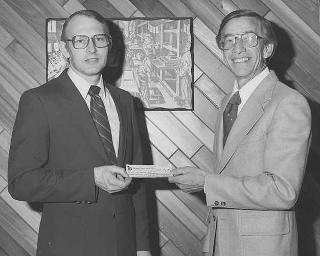 Bethesda Foundation Presents $16000 to Bethesda Hospital 1983