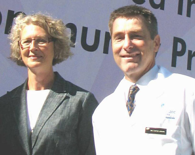 Marg Rempel and Dr. Curtis Krahn 2005